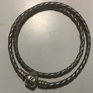 Pandora Silver Double Wrap Bracelet
